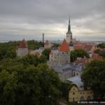 Tallin. Vista su una parte della Città Vecchia