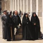 In posa alla moschea degli Omayyadi