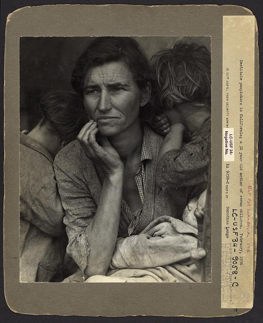 Migrant Mother @Dorothea Lange